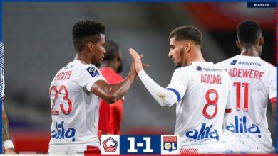 Photo de L'OL arrache le nul à Lille (1-1)